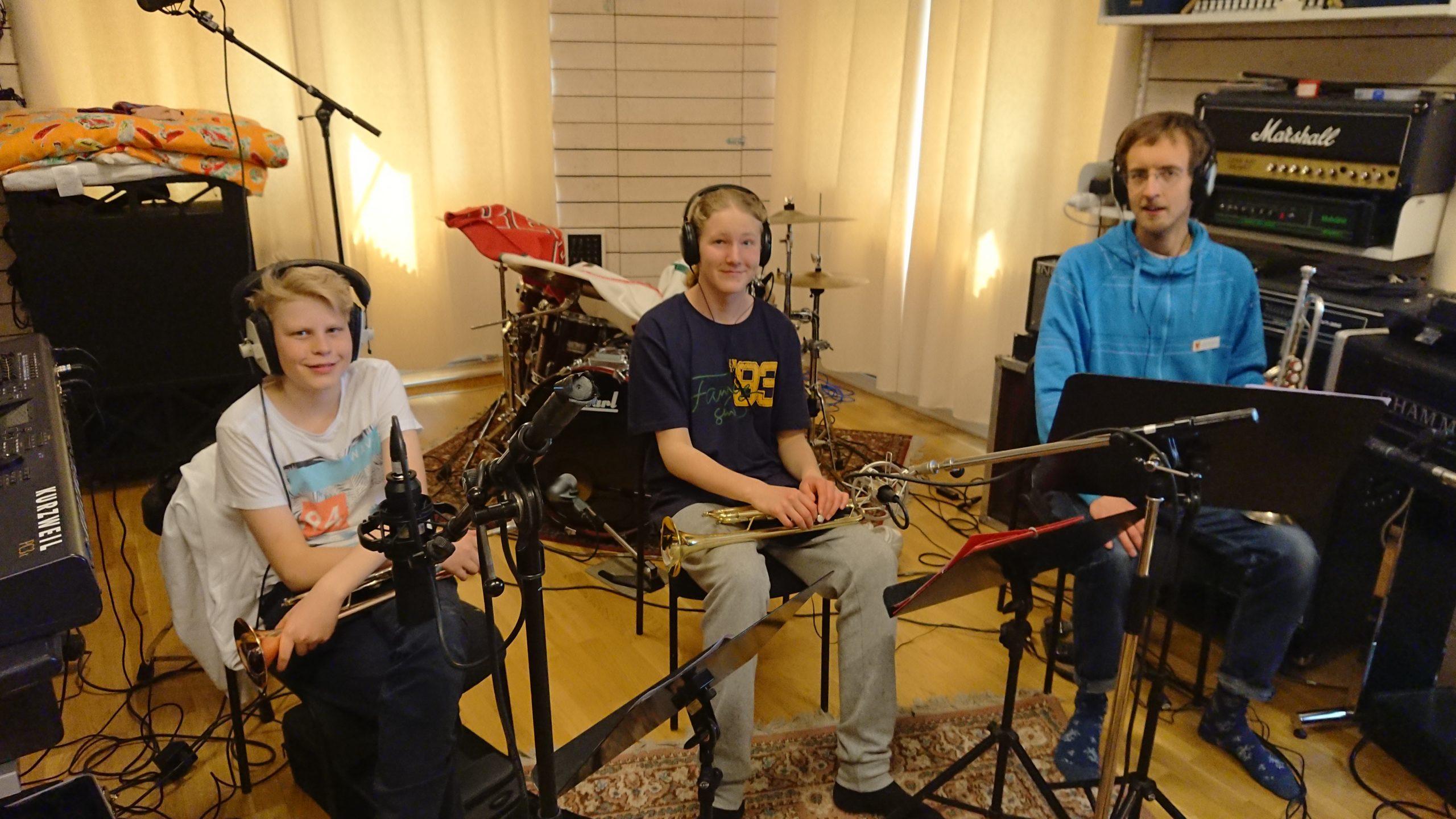 -Studioinspelning med Ungdomsorkestern