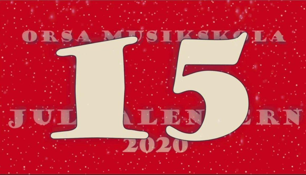 Julkalendern – lucka nr 15
