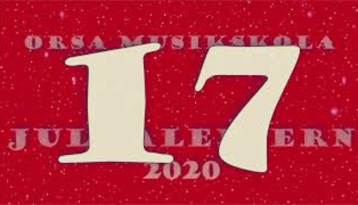 Julkalendern – lucka nr 17