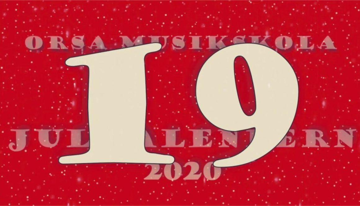 Julkalendern – lucka nr 19