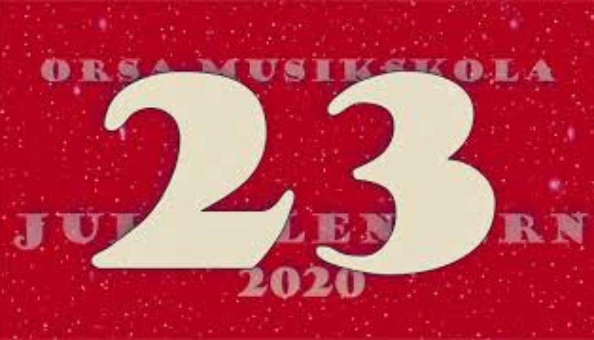 Julkalendern – lucka nr 23